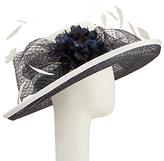John Lewis Iris Crown Occasion Hat, Ivory/Navy