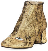 Figue Catroux Eyes Metallic Leather Ankle Boot