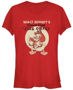 Fifth Sun Women's Disney Mickey Classic Fireman Donald Short Sleeve T-shirt
