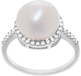 Bliss Pearl & Cubic Zirconia Halo Ring