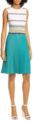 Ted Baker Zannan Geo Pleated Dress