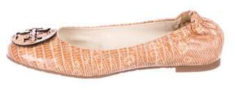 Tory Burch Embossed Round-Toe Flats