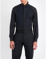 Corneliani Textured-bib regular-fit cotton-poplin shirt