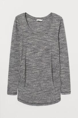 H&M MAMA Jersey Top - Gray