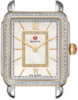 Michele 18mm Deco II Diamond Watch Head, Two-Tone