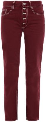MM6 MAISON MARGIELA Frayed Mid-rise Slim-leg Jeans
