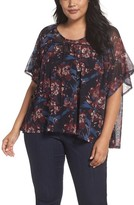 Sejour Plus Size Women's Ruffle Mesh Top