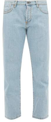 Marni Selvedge-denim Straight-leg Jeans - Womens - Light Blue