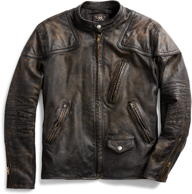Thumbnail for your product : Ralph Lauren Slim Fit Leather Moto Jacket