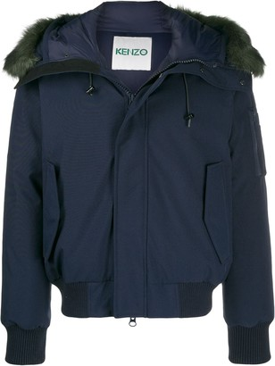 Kenzo faux fur trimmed bomber jacket