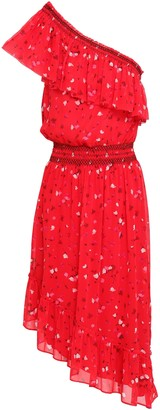 Joie Hafsa One-shoulder Floral-print Silk-georgette Dress