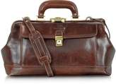 Chiarugi Handmade Brown Leather Professional Doctor Bag