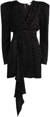 Ronny Kobo Lilian Jacquard Zebra Mini Dress