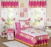 JoJo Designs Pink and Orange Butterfly Collection Children's 3 Piece Full / Queen Girls Bedding Set