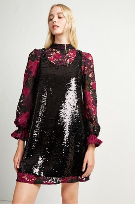 French Connection Cynthia Lace And Sequin Dress