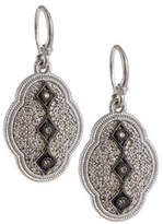 Armenta New World Midnight Scalloped Earrings with Diamonds