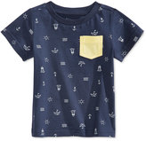 First Impressions Graphic-Print Pocket T-Shirt, Baby Boys (0-24 months), Only at Macy's