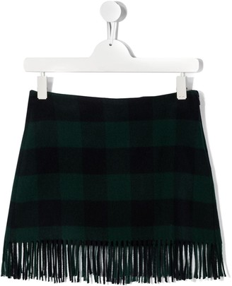 Il Gufo TEEN fringed mini skirt