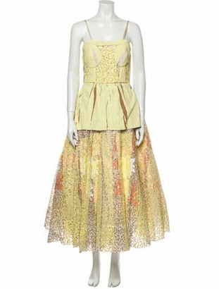 Marni 2019 Long Dress w/ Tags Yellow