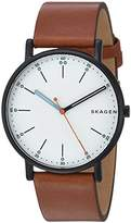Skagen Men's 'Signatur' Quartz Stainless Steel and Leather Casual Watch