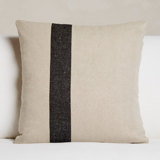 James Perse Indoor Striped Linen Euro Pillow - 26 X 26
