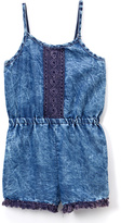 Dollhouse Light Acid Wash Denim Romper - Infant, Toddler & Girls