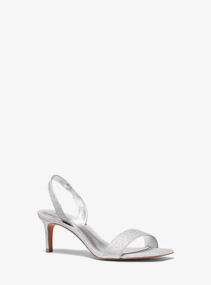 MICHAEL Michael Kors MK Mila Glitter Sandal - Silver Multi - Michael Kors