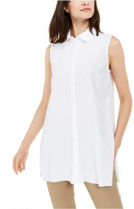 Alfani Sleeveless Button-Front Tunic