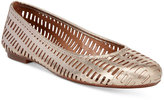 French Sole Quartz Perforated Flats