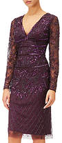 Adrianna Papell Beaded Dress, Amethyst