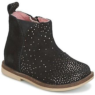 Kickers MOOKY girls's Mid Boots in Black