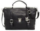 Frye Genuine Leather Logan Buckle Briefcase