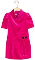Gucci Girls' Cowl Neck Velvet Dress