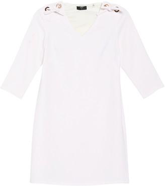 T Tahari Tie Shoulder Mini Shift Dress