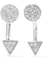 Adina Sterling silver diamond earrings