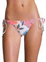 Mara Hoffman Arcadia Coral Side Tie Bikini Bottom