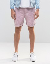 Asos Slim Chino Shorts In Purple