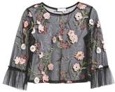 Ten Sixty Sherman Embroidered Mesh Top