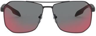 Prada 59MM Mirrored Geometric Sunglasses
