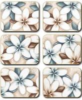 Cinnamon Ocean Frangipani Coasters set of six