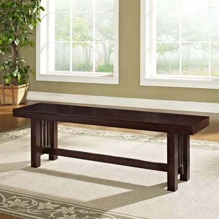 Magnificent Manor Park Transitional Wood Dining Bench Cappuccino Onthecornerstone Fun Painted Chair Ideas Images Onthecornerstoneorg