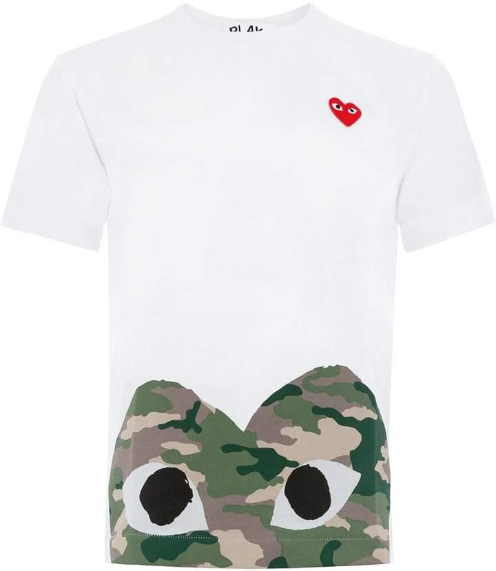 Comme des Garcons camouflage edge heart T-shirt