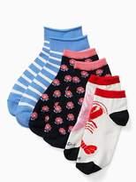 Kate Spade Love lobster 3 pack anklet sock set