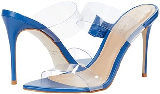 Massimo Matteo Vinyl Strapped Sandal (Blue) Women's Shoes