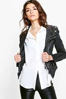 Boohoo Eloise Studded Biker Jacket