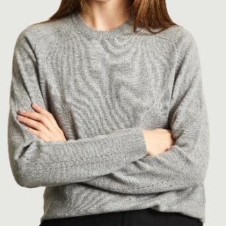 Folk Light Gray Wool Patrice Sweater - light gray | wool | UK 1