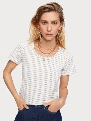 Scotch & Soda Space Dye Stripe T-Shirt   Women
