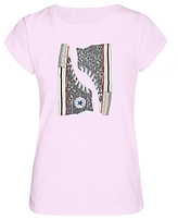 Converse Girls' Glitter Chuck T-Shirt, Pink
