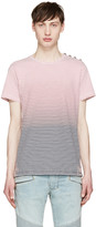 Balmain Tricolor Striped Degrade T-Shirt