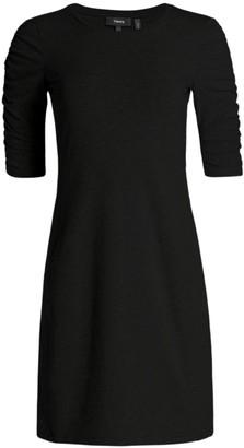 Theory Gathered Sleeve Sheath Dress